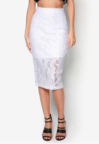Venessa 蕾絲zalora時尚購物網評價鉛筆裙, 服飾, 裙子