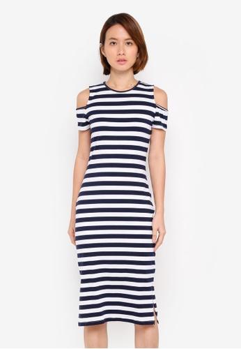 ZALORA BASICS multi Cold Shoulder Bodycon Jersey Dress 1F20BAACC7359EGS_1