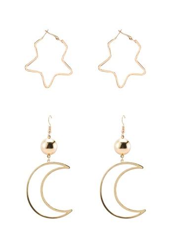 Red's Revenge gold 2-in-1 Celestial Celebration Dangle Earrings Set 6B289ACD955BCDGS_1