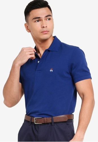 Brooks Brothers navy Mens Knit Polo Shirt FAB50AA17B9A00GS_1