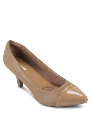 Rahab 漆皮尖頭高esprit童裝門市跟鞋, 女鞋, 鞋
