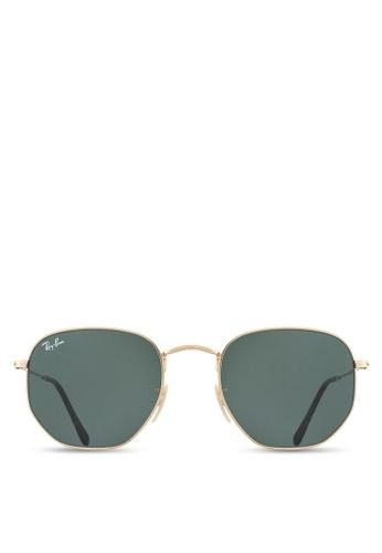 Ray-Ban 金色 Hexagonal Flat Lenses RB3548N Sunglasses RA896GL30UTPMY_1