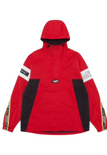 MUSIUM DIV red Panelled anorak jacket D5FB1AA7935722GS_1