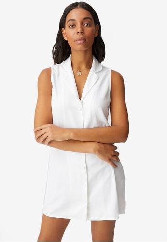 Cotton On white Woven Vicky Vest Mini Dress 64B9AAAE143087GS_1