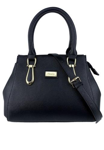 Mel&Co black Faux Leather Top Handle Bag ECDE1AC59801E5GS_1