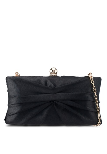 Papillon Clutch black Silky Ribbon Clutch B9D9CAC9CD0CC0GS_1