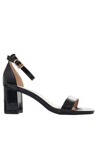 Twenty Eight Shoes 黑色 漆皮高踭涼鞋5691-3a 4C616SH8A08CB6GS_1