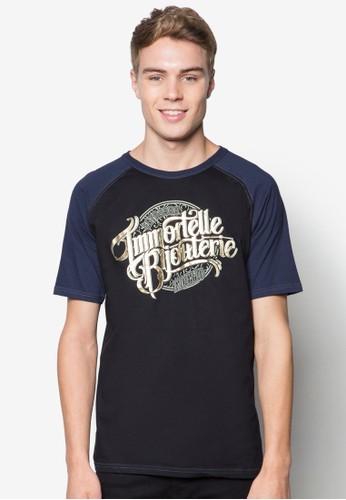 文字esprit台灣outlet設計拉克蘭短袖TEE, 服飾, T恤