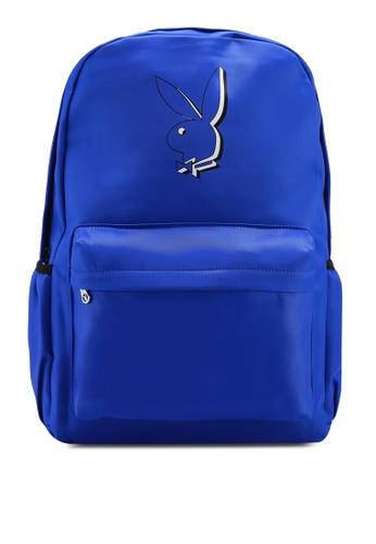 Playboy blue Playboy Backpack 155B4AC6CEFAF2GS_1