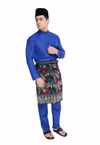 Amar Amran blue Baju Melayu Moden E761DAAC0ED0E7GS_1