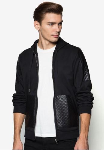 菱格紋口袋連帽外套, 服飾, zalora 包包評價外套