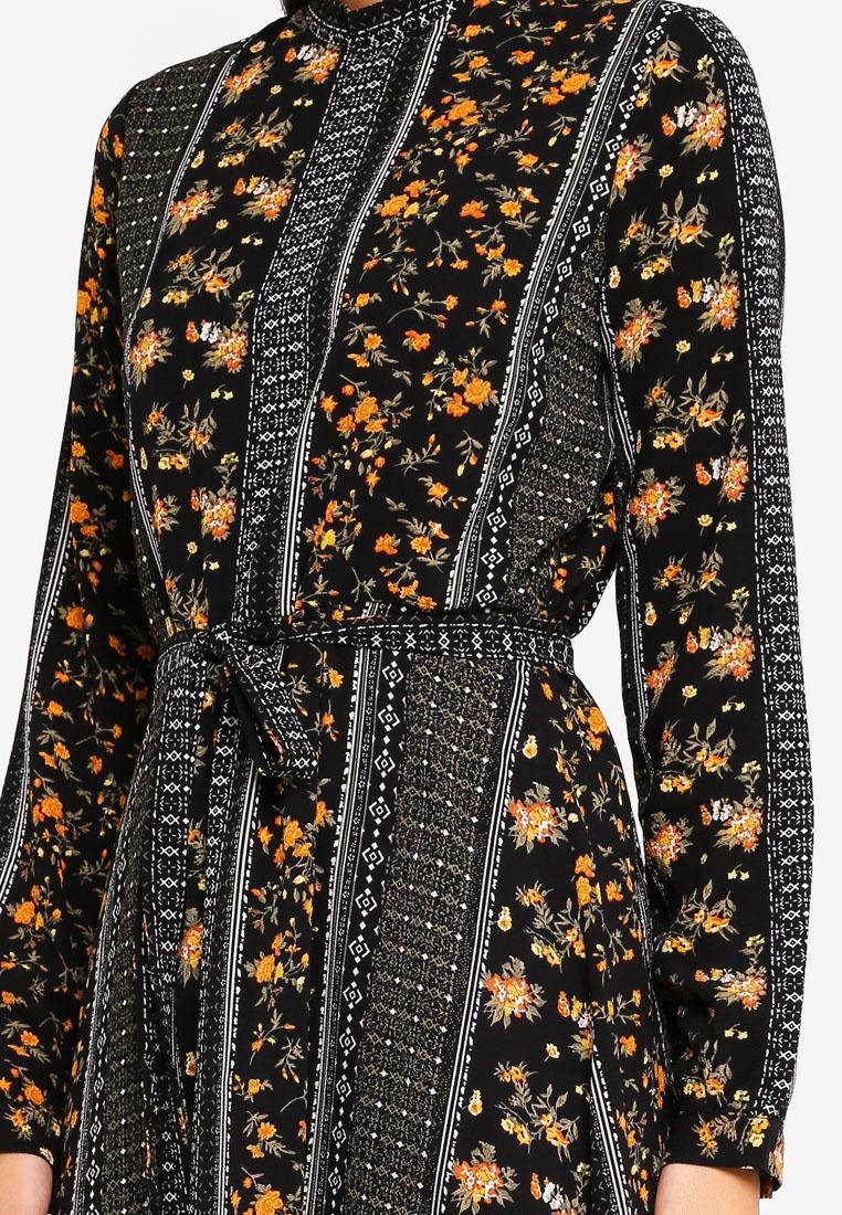 Calf Ally Vero Ally Dress Print Moda Black gqwX4Xd