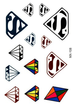 Colored Temporary Tattoo