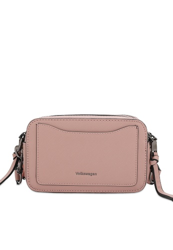 Volkswagen 粉紅色 仿皮斜背包 57501ACCE99CE8GS_1