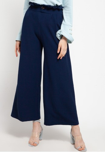 Imperial navy Chic Button Pants DDB9CAAF8F3CC9GS_1
