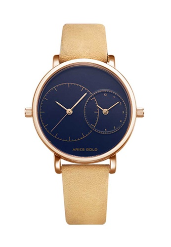 Aries Gold brown Aries Gold Wanderer L 5027 Tan and Rose Gold Watch 381E1AC7615197GS_1