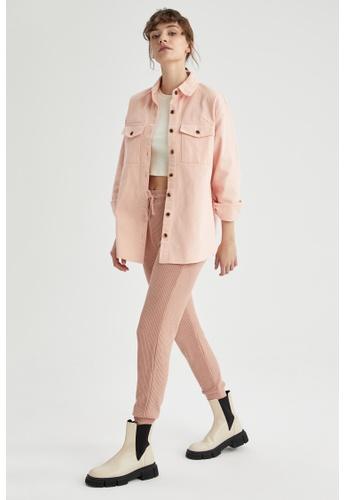 DeFacto pink Long Sleeve Shirt Jacket 71524AA4D7D3E8GS_1