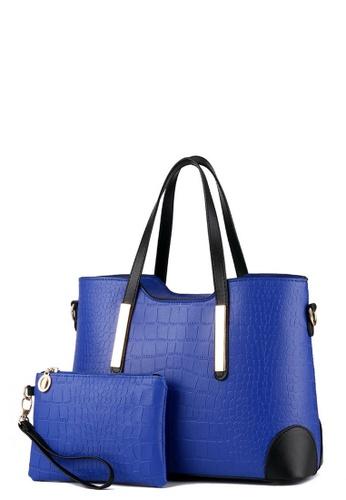 TCWK blue TCWK Korea Style Set of 2pcs Blue Ladies Handbag TC258AC0RR5NMY_1
