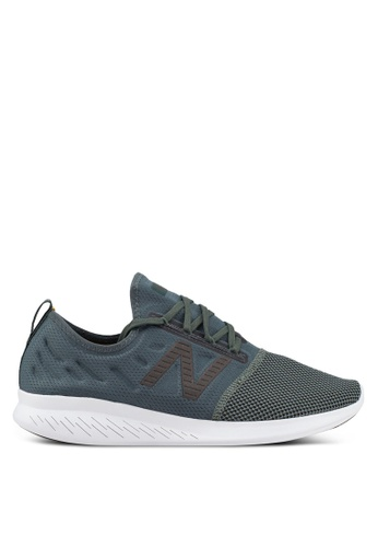 New Balance green Coast Fitness Running Lace Shoes 8E3CFSHB411D72GS_1