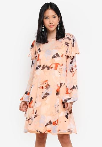 Y.A.S orange Yasopal Long Sleeve Dress 7CE73AA19486C8GS_1