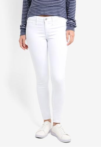 Hollister white White Super Skinny Jeans D859BAA8D6D8AEGS_1