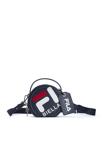 FILA navy FILA BIELLA Logo Round Crossbody Bag EA50CAC27C9122GS_1