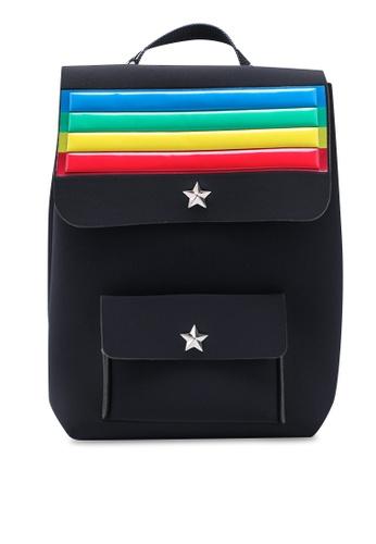 La Fille Des Fleurs black Alma Rainbow Backpack 27A0DACD668153GS_1