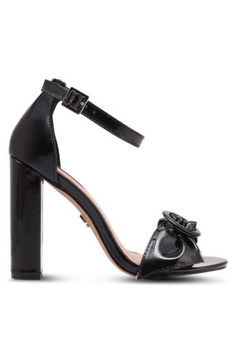 LOST INK black Bea Buckle Bow Heels LO238SH0T1R5MY_1