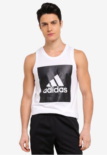 adidas white adidas ess tank AD372AA0SUZ3MY_1