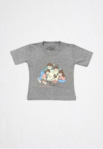 DISCREET KIDSWEAR grey Discreet Kidswear Home Sweet Home Kids T-Shirt 3CAF7KAB924AF6GS_1