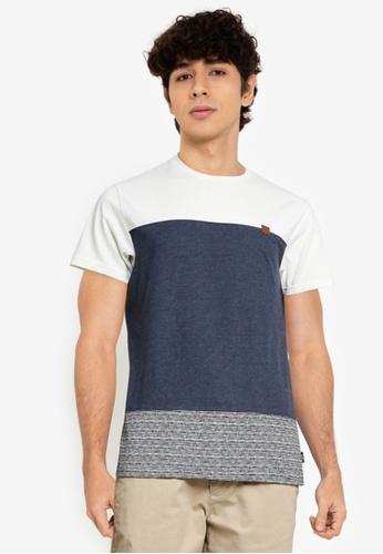 Indicode Jeans navy Hammond Colourblock T-Shirt CEE91AA7BDF492GS_1