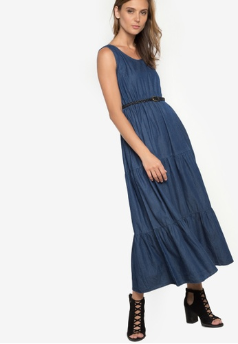 Freeway blue Chambray Tier Maxi FR321AA95HZCPH_1