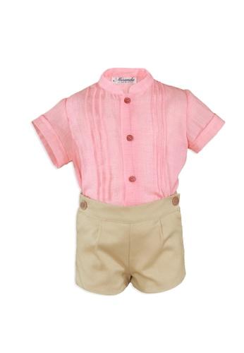 RAISING LITTLE pink and beige Javier Outfit Set B5B22KA2FB560CGS_1