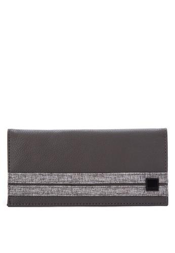Penshoppe grey Color-Block  Long Wallet C6942AC8B0CBEFGS_1
