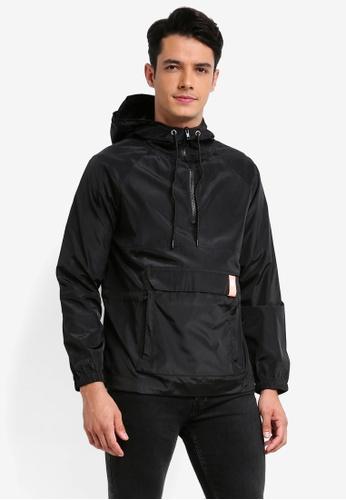 Pestle & Mortar 黑色 潮流連帽夾克上衣 CAFCFAAD020D79GS_1