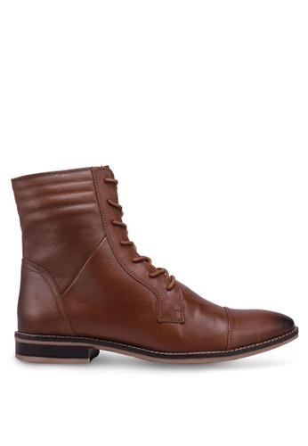 ACUTO brown Leather Boots 02662SH3C27B3CGS_1