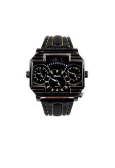 Oulm 3 Time Zones Cross Shape Men's Quartz Watch