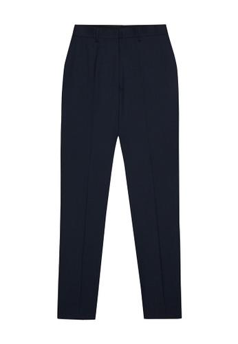 D'urban blue Long Wool Trousers 9A725AA7F9B592GS_1