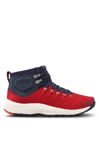 Timberland red Flyroam Trail Mid Fabric Shoes BCE09SHA0F60A9GS_1
