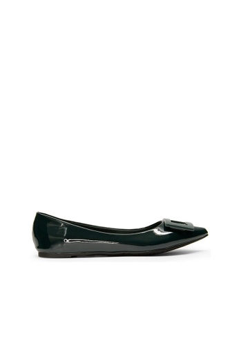 SEMBONIA green Women Synthetic Leather Ballet Flat 2CFD1SH06B2ED4GS_1