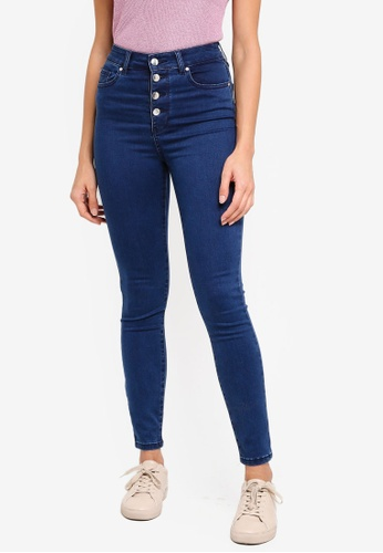 Forever New blue Heidi High Rise Ankle Grazer Jeans 9352FAAB8AAC2CGS_1