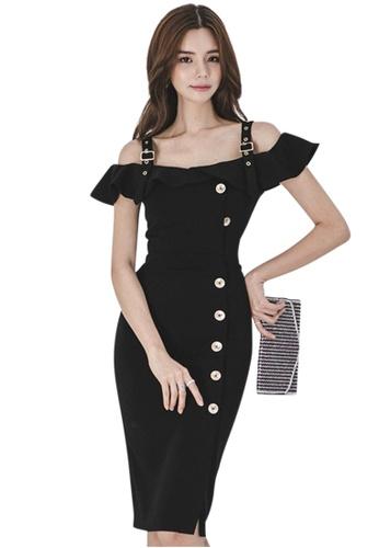 1a877d25511f Sunnydaysweety black 2018 New Black Off Shoulder Bodycon One Piece Dress  CA071825 87338AA020FA75GS 1