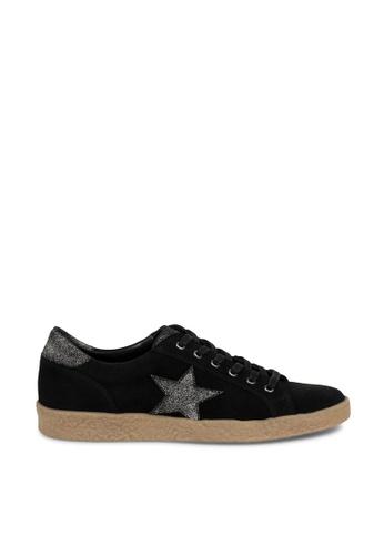 Andre black ADABIGAIL Star Patched Velvet Sneakers AN324SH0FEIJSG_1