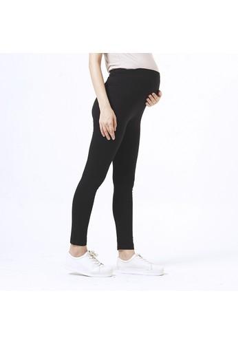 Mamibelle Nursingwear black Mamibelle Lexa Black Celana Legging Ibu Hamil Spandex Rayon Premium 629F9AA1CD943FGS_1