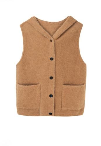 Twenty Eight Shoes brown VANSA Imitation Mink Vest Jacket  VCW-V7706 E63E3AAA5E0763GS_1