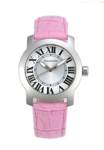 EGLANTINE silver EGLANTINE® Emily Ladies steel quartz Watch on pink leather strap B7040AC1228427GS_1