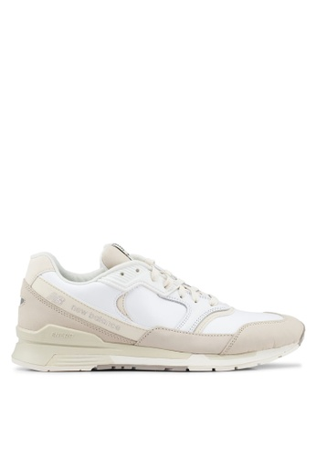 New Balance white and beige 99 Lifestyle Shoes 204A7SH60907F5GS_1