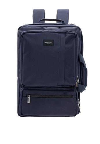 SEMBONIA blue Men Convertible Document-Backpack F5207AC1D69940GS_1