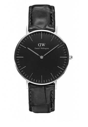 Daniel Wellington black and silver Classic Black Reading Watch 36mm DA376AC68NBZMY_1