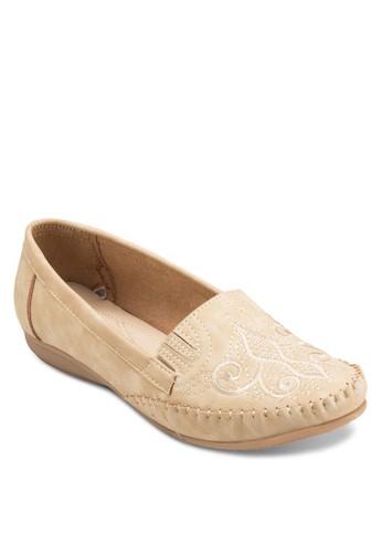 Moccasin 刺繡鞋面平底鞋esprit高雄門市, 女鞋, 鞋